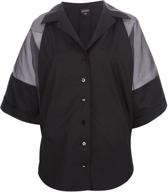 Jean Paul Gaultier Sheer Sleeve Shirt - Lyst