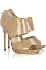 Jimmy Choo Private Patent leather Sandals - Lyst