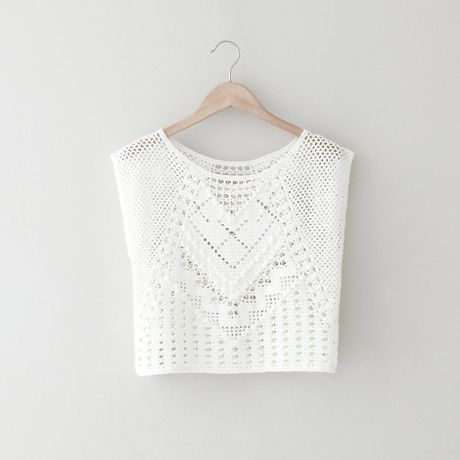 Crochet Crop Top : Lauren Moffatt Crochet Crop Top in White Lyst