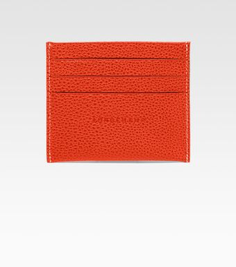 Longchamp Vf Slim Credit Card Holder - Lyst