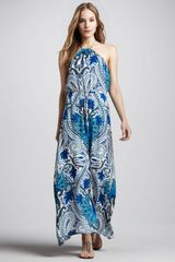 Madison Marcus Paisleyprint Halter Maxi Dress - Lyst
