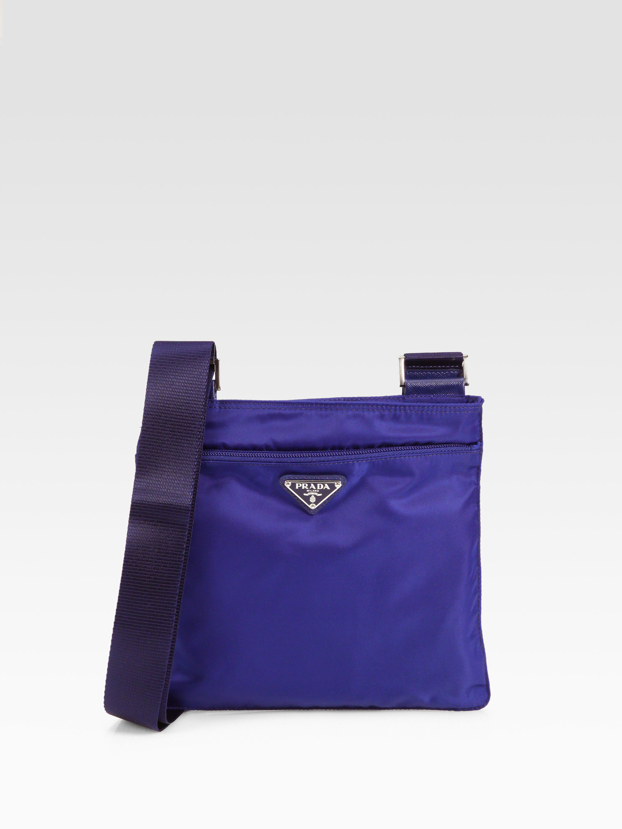 Prada Nylon Messenger Bag in Blue (bluette-blue) | Lyst
