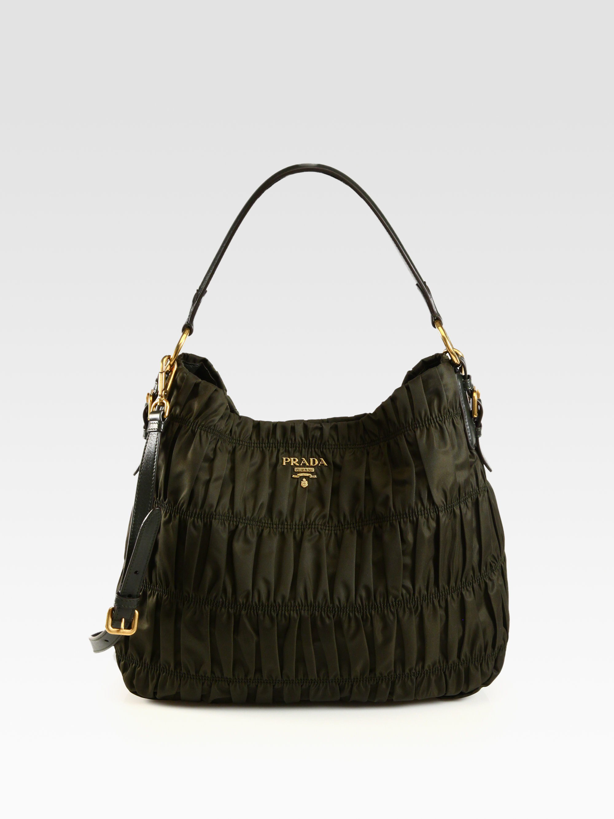 prada tessuto nylon flap shoulder bag