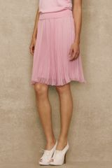 Ralph Lauren Blue Label Pleated Silk Chiffon Skirt - Lyst