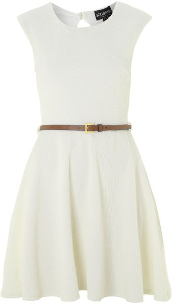 Sodamix Petites Texture Belted Dress - Lyst