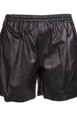 Timo Weiland  Leather Shorts - Lyst