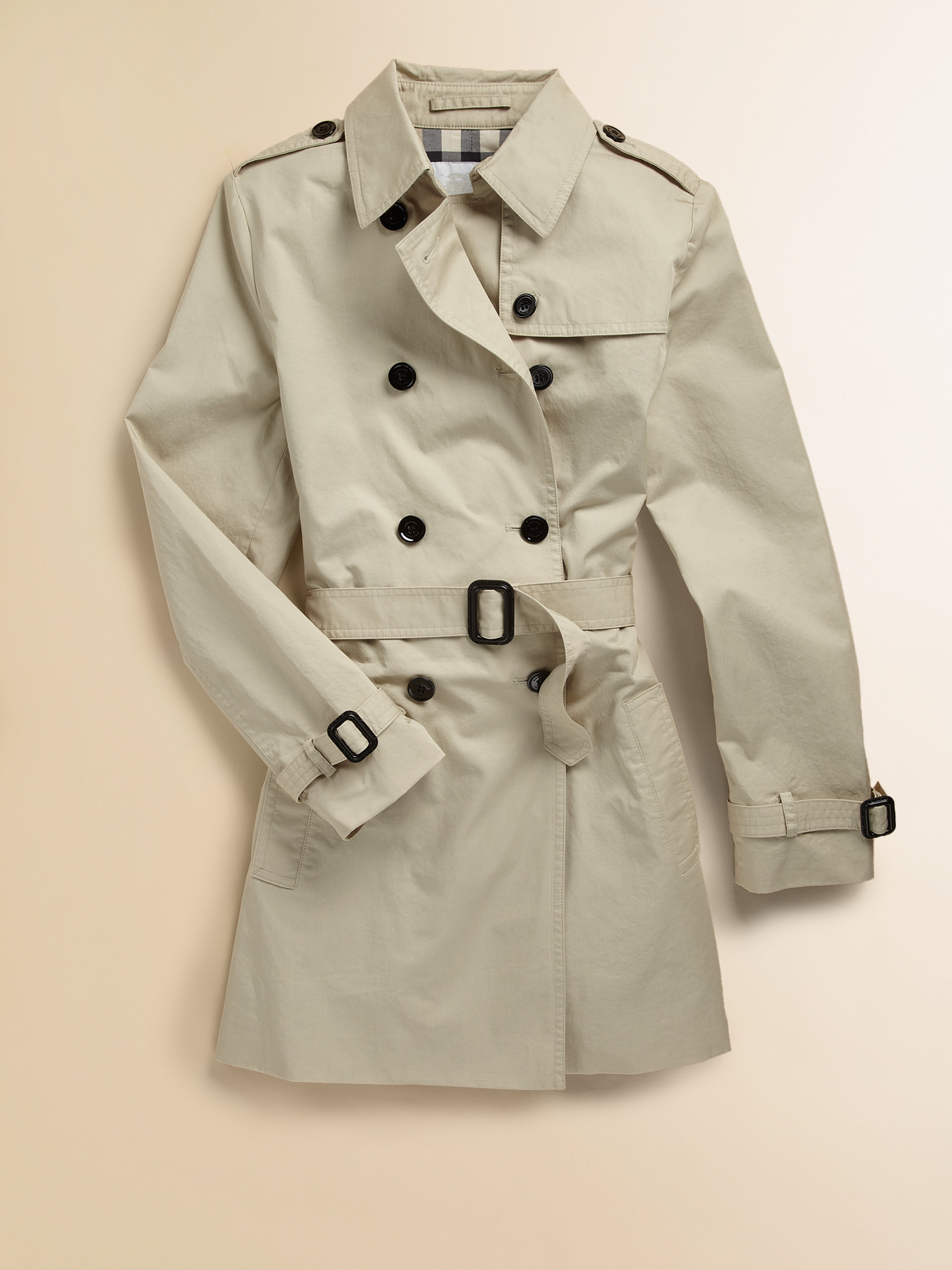 Burberry Girls Trenchcoat in Natural | Lyst