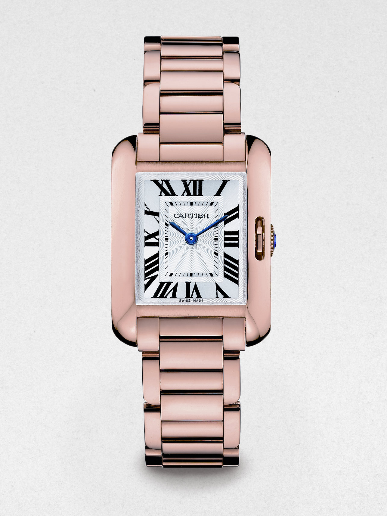 5a0f3fb81c7e Lyst - Cartier Tank Anglaise 18k Pink Gold Watch in Metallic