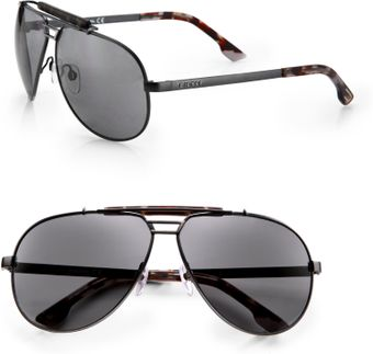 Diesel Metal Aviator Sunglasses - Lyst