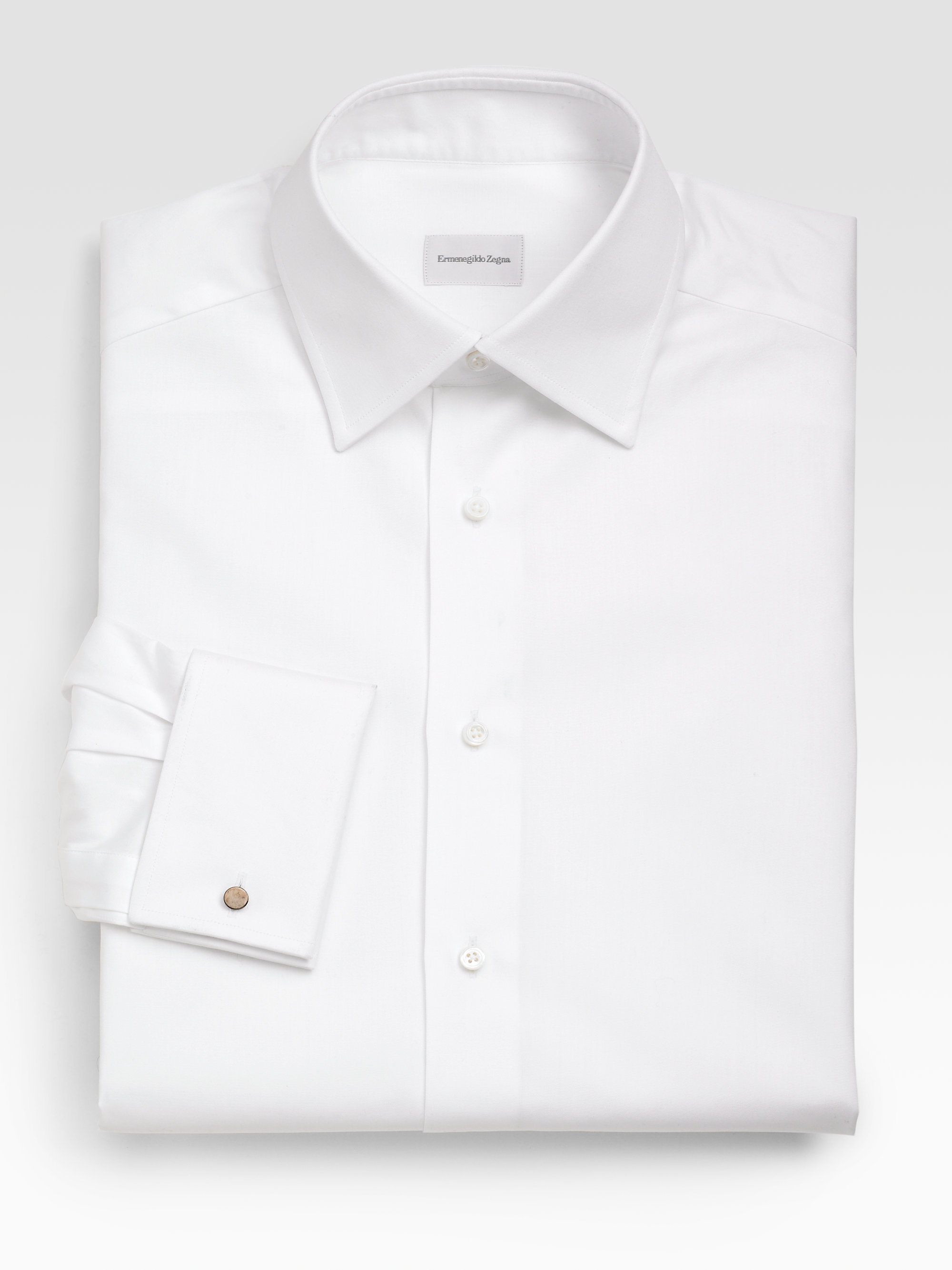 Lyst Ermenegildo Zegna French Cuff Dress Shirt In White For Men