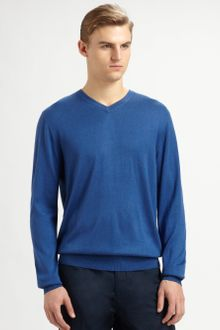 Faconnable Vneck Sweater - Lyst