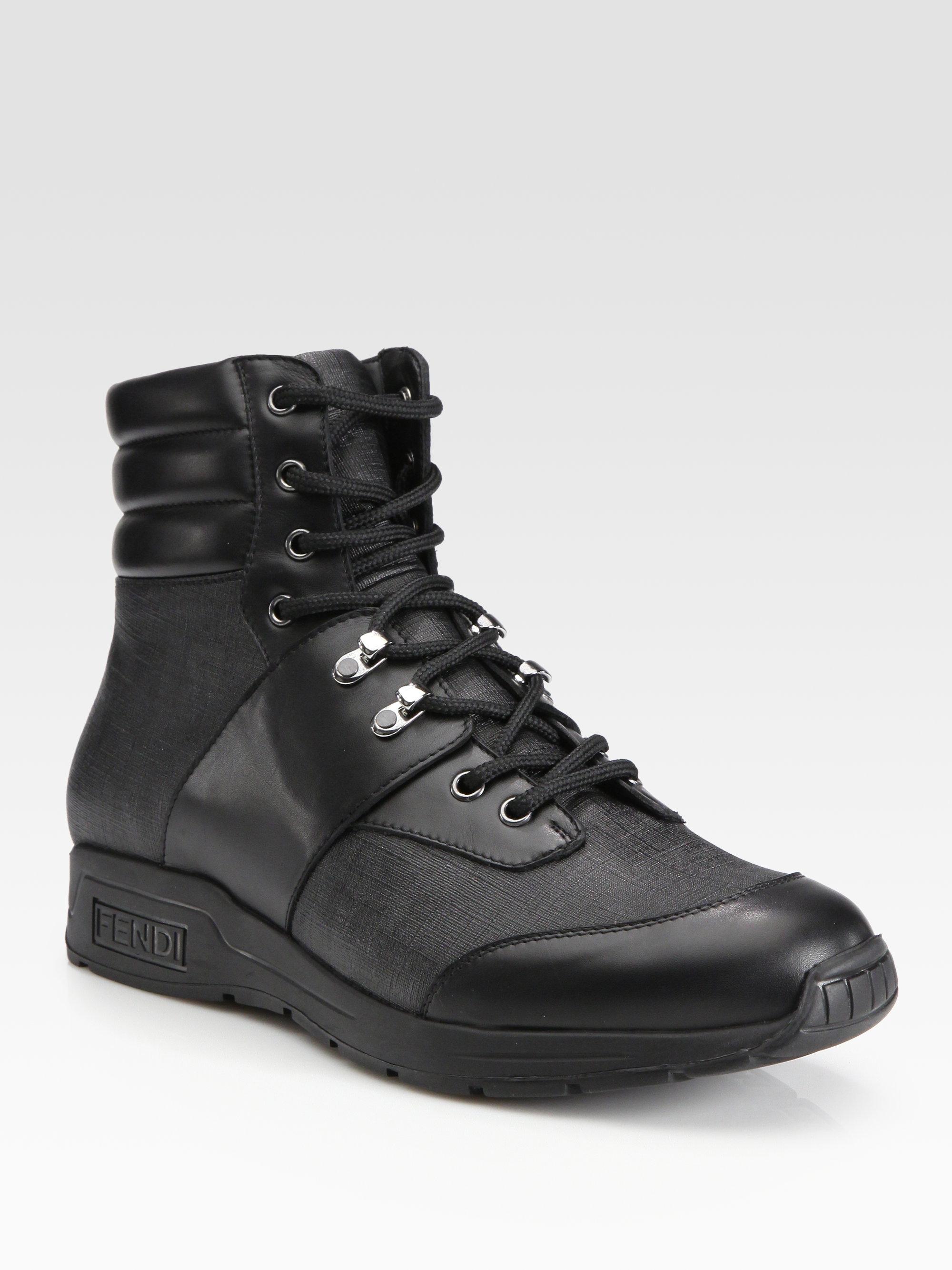 Fendi Zucca Trekking Boot In Black For Men Lyst