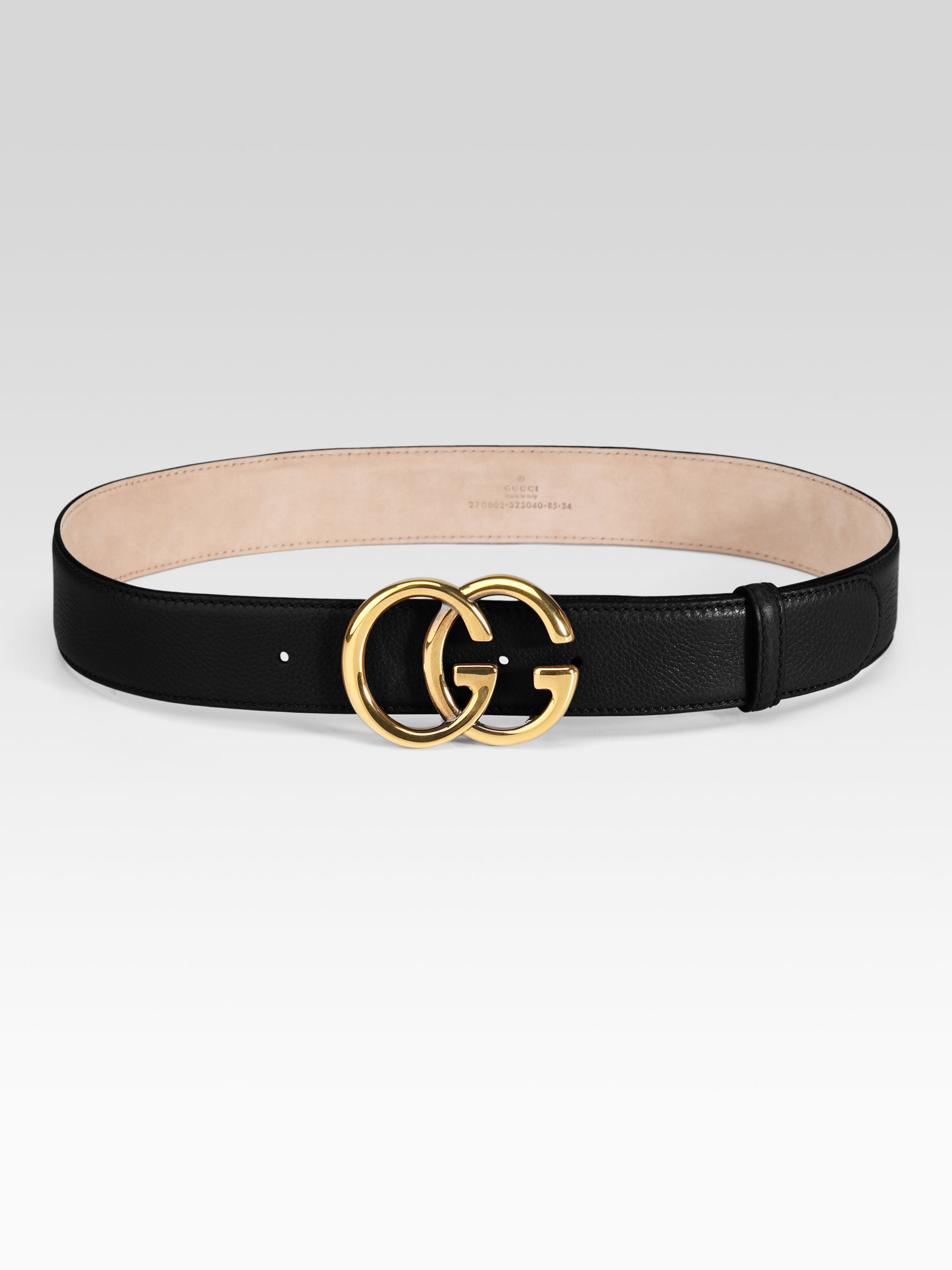 Gucci Double G Buckle Belt In Black For Men Lyst