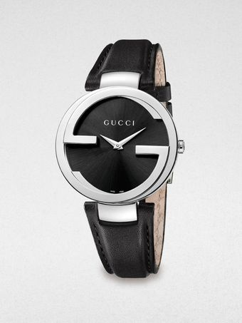 Gucci Stainless Steel Leather Watch - Lyst