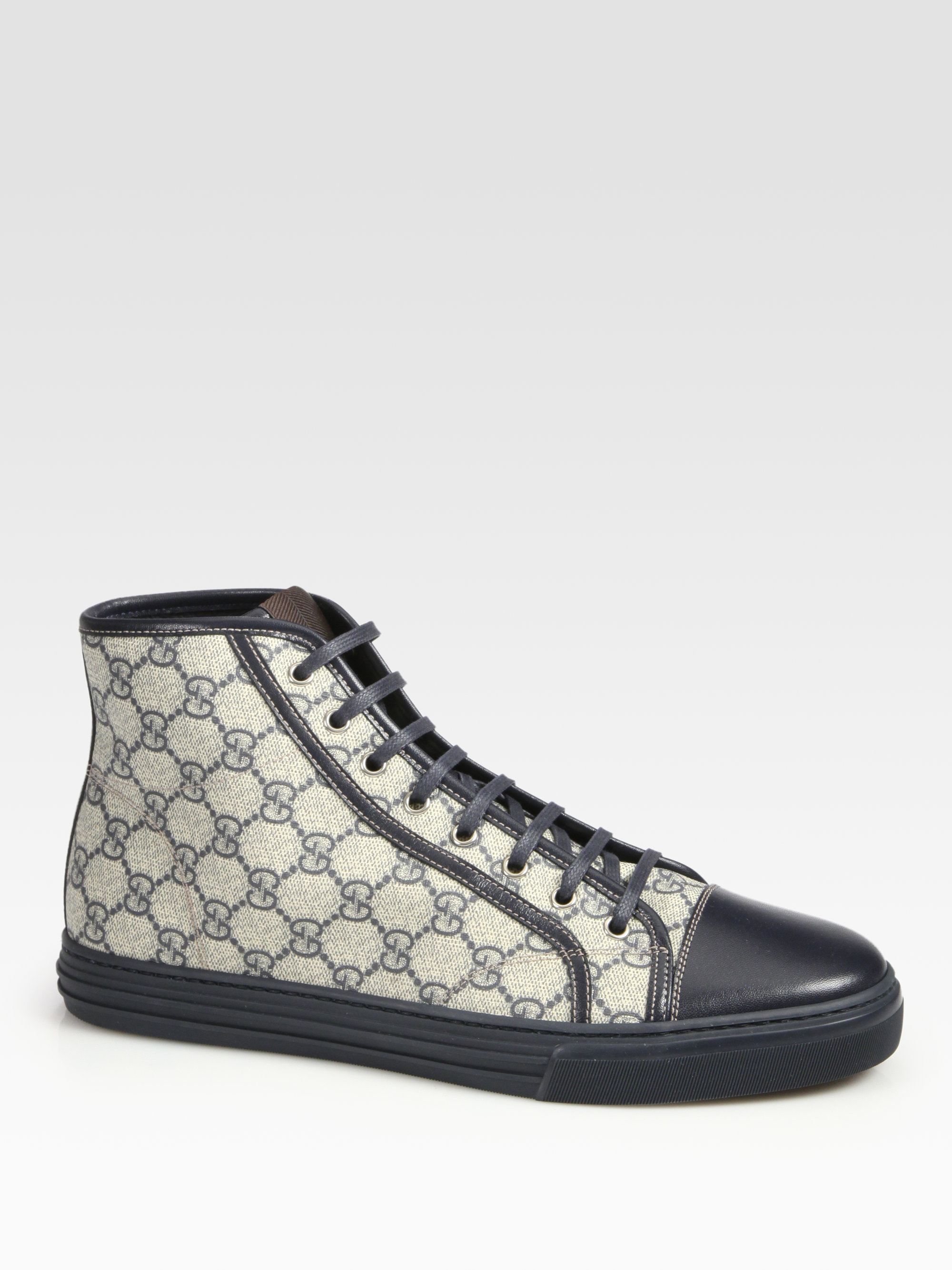 mens gucci high top trainers