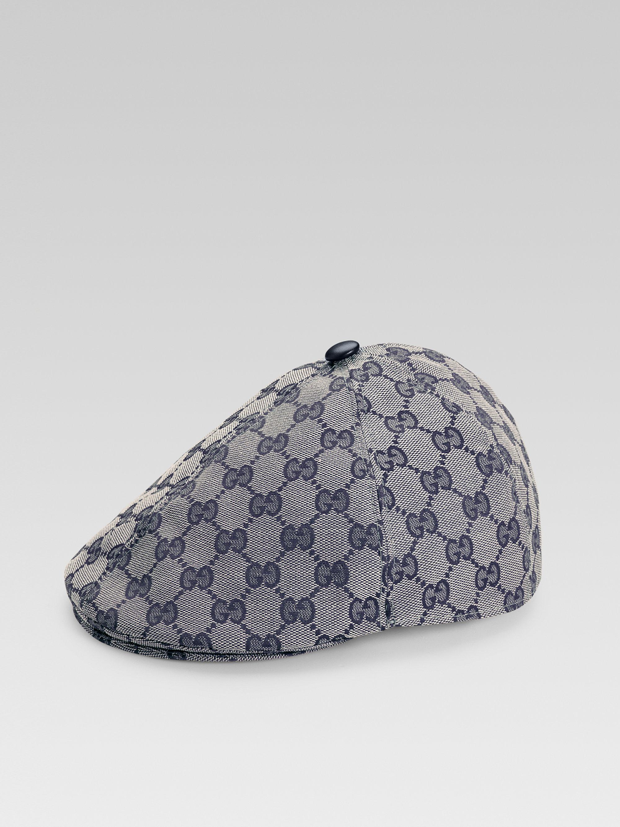 8ae87974 Gucci Kids Capello Driving Cap in Gray for Men - Lyst