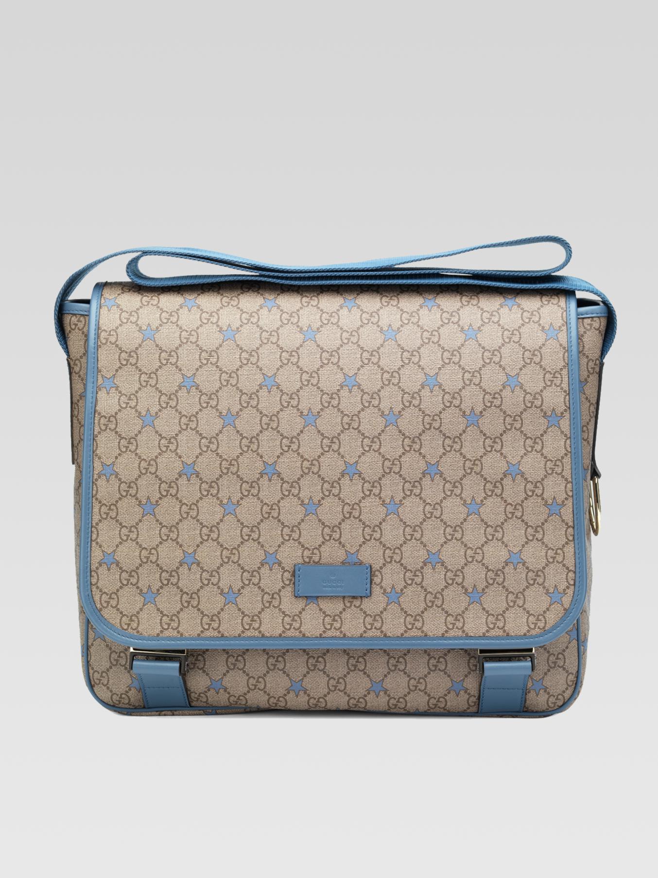 69ecd96ddba39b Gucci Micro Gg Supreme Canvas Stars Diaper Bag in Blue - Lyst