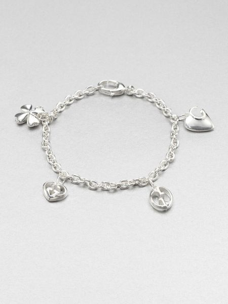 Gucci Sterling Silver Charm Bracelet In Silver For Men Lyst