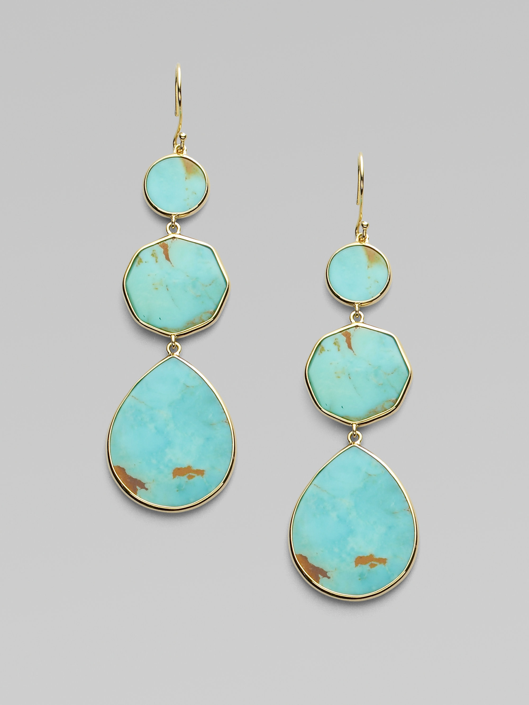 ippolita polished rock candy turquoise 18k yellow gold. Black Bedroom Furniture Sets. Home Design Ideas