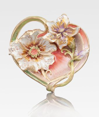 Jay Strongwater Enameled Heart Trinket Tray - Lyst