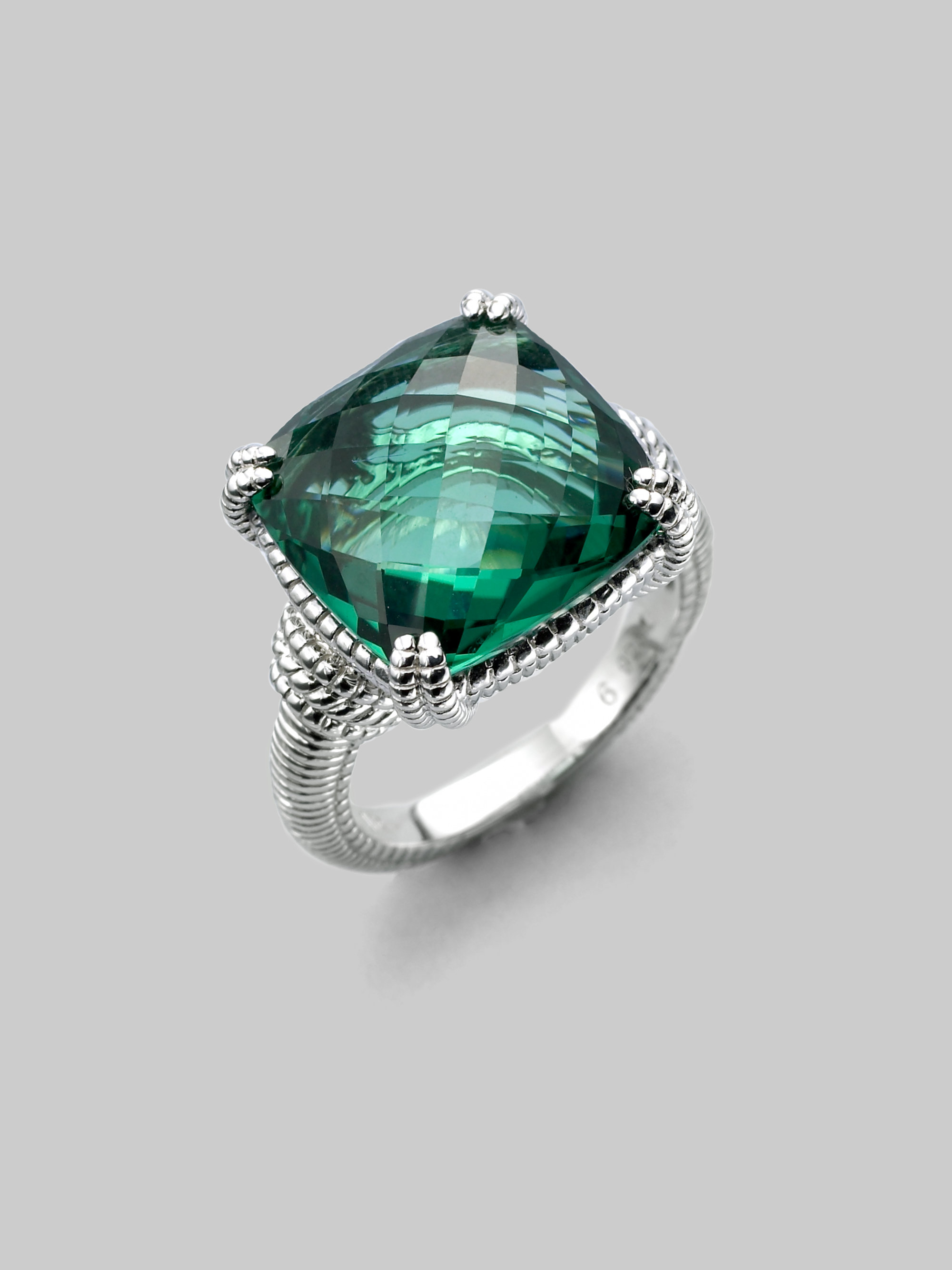 jewelry ring clear fine alexis normal diamond marquis engagement ice green rings lyst silver quartz sapphire product gallery sterling bittar cluster