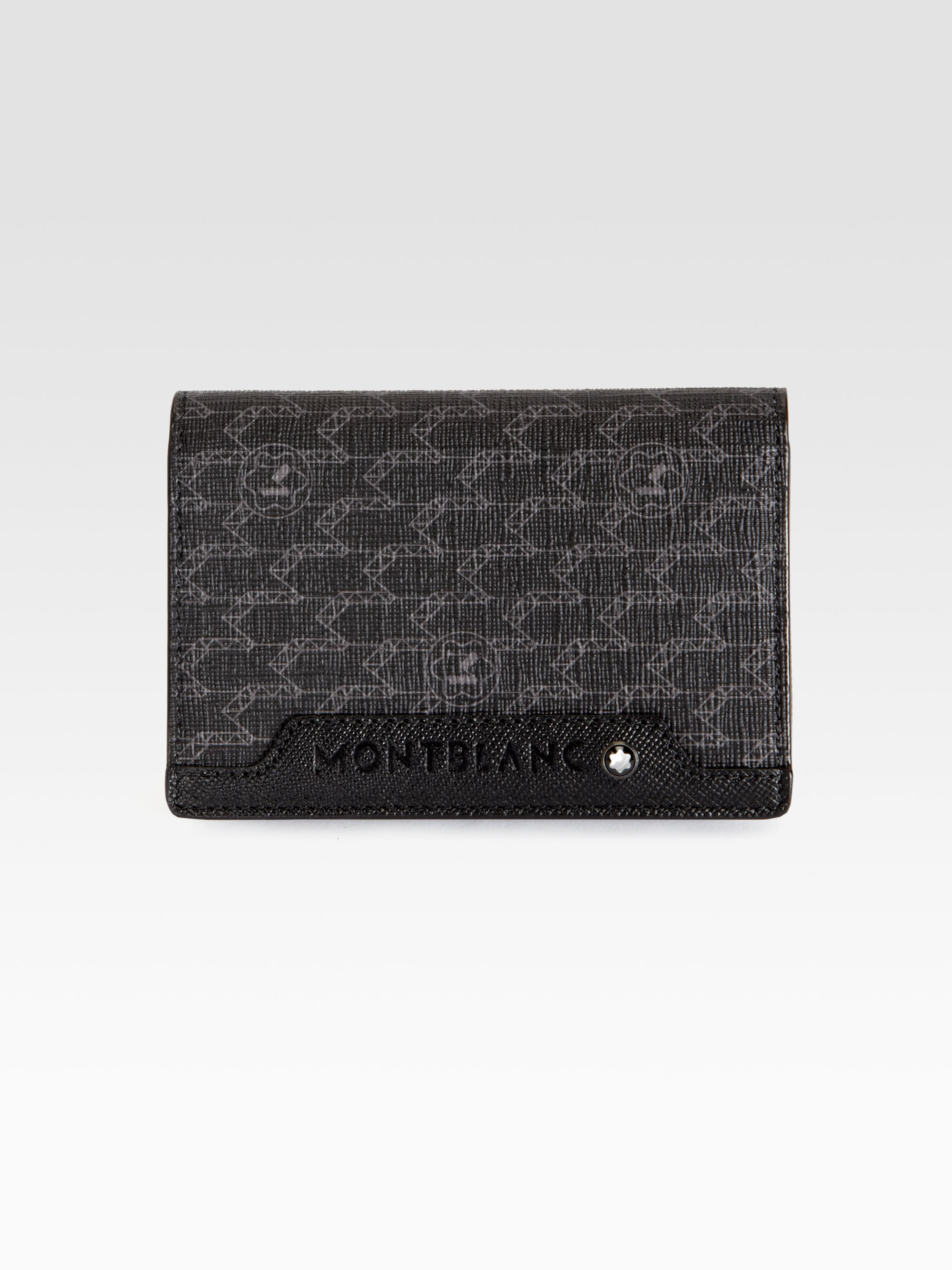 montblanc nightlife business card holder in black for men