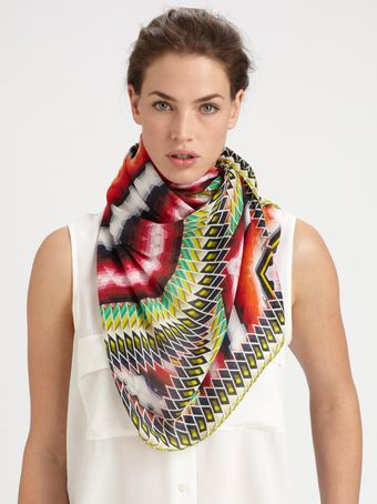 Peter Pilotto Damask Stripe Silk Scarf - Lyst