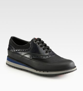 Prada Leather Sneaker - Lyst