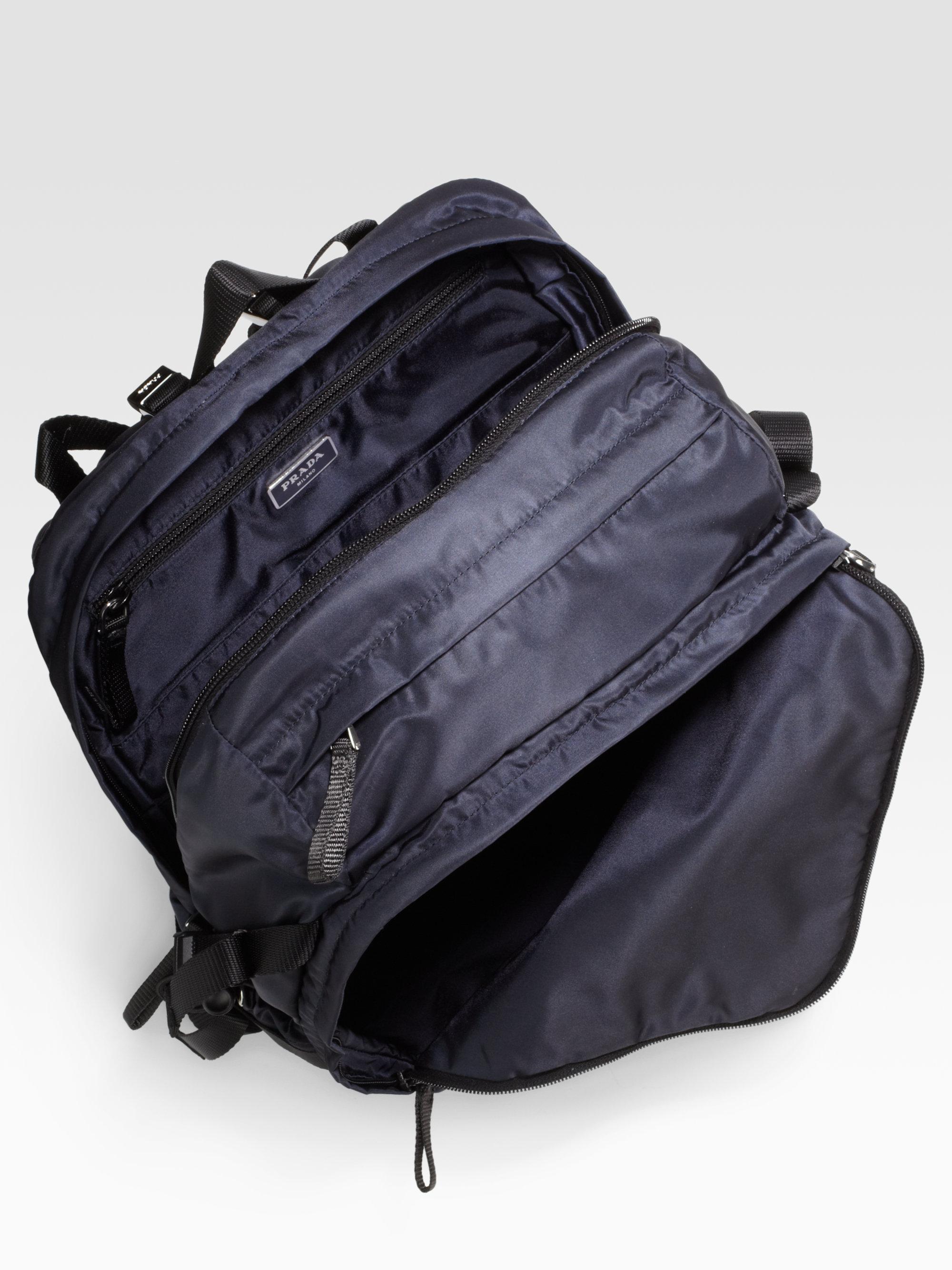 Prada Nylon Backpack in Black for Men (blue) | Lyst