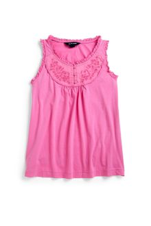 Ralph Lauren Girls Embroidered Tank Top - Lyst