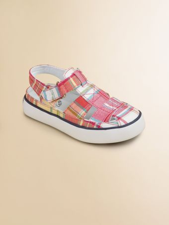 Ralph Lauren Infants Toddler Girls Sander Fisherman Plaid Sandals - Lyst