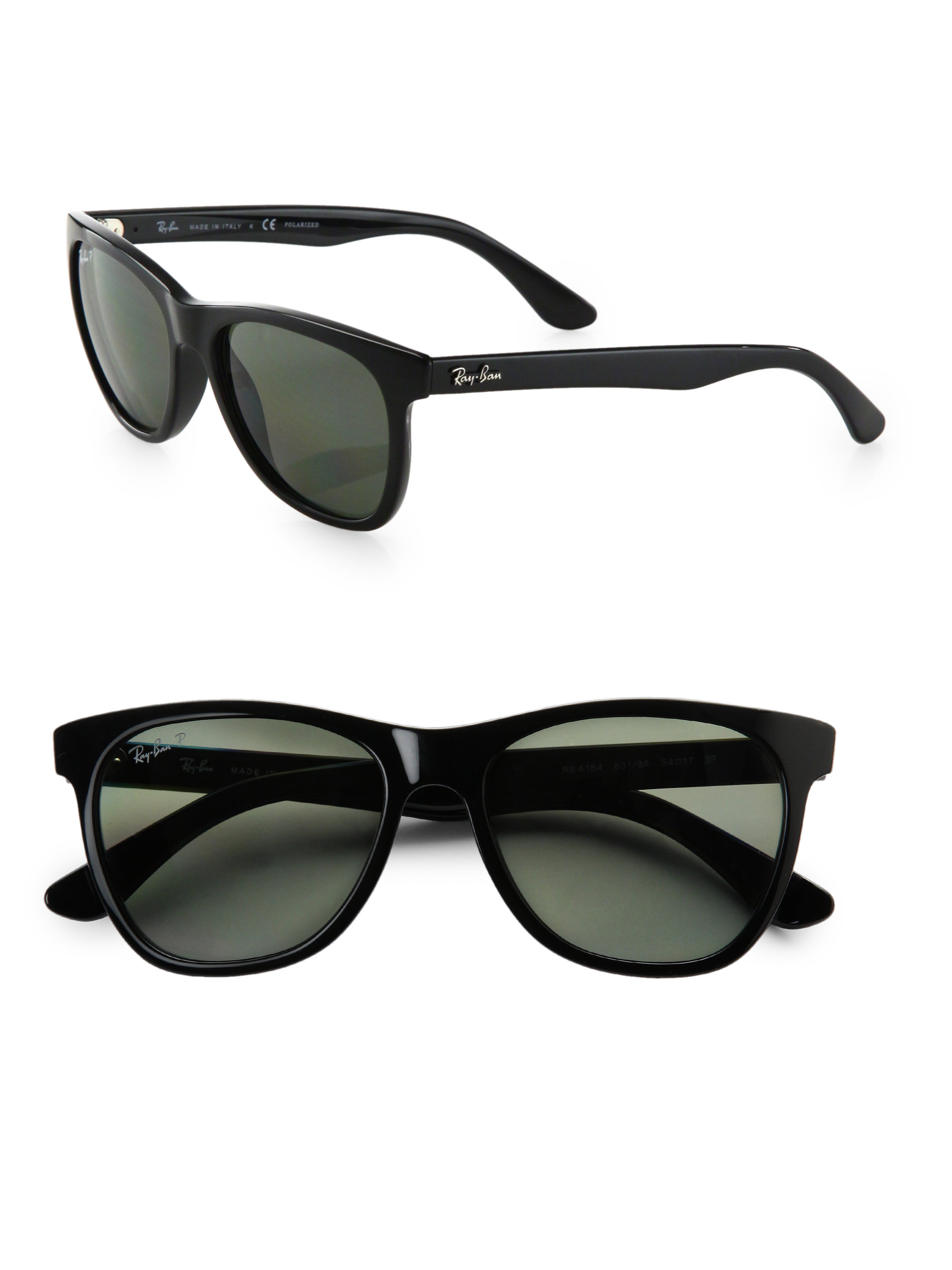 ray ban wayfarer oversized  Ray-ban Oversized Plastic Wayfarer Sunglasses in Black
