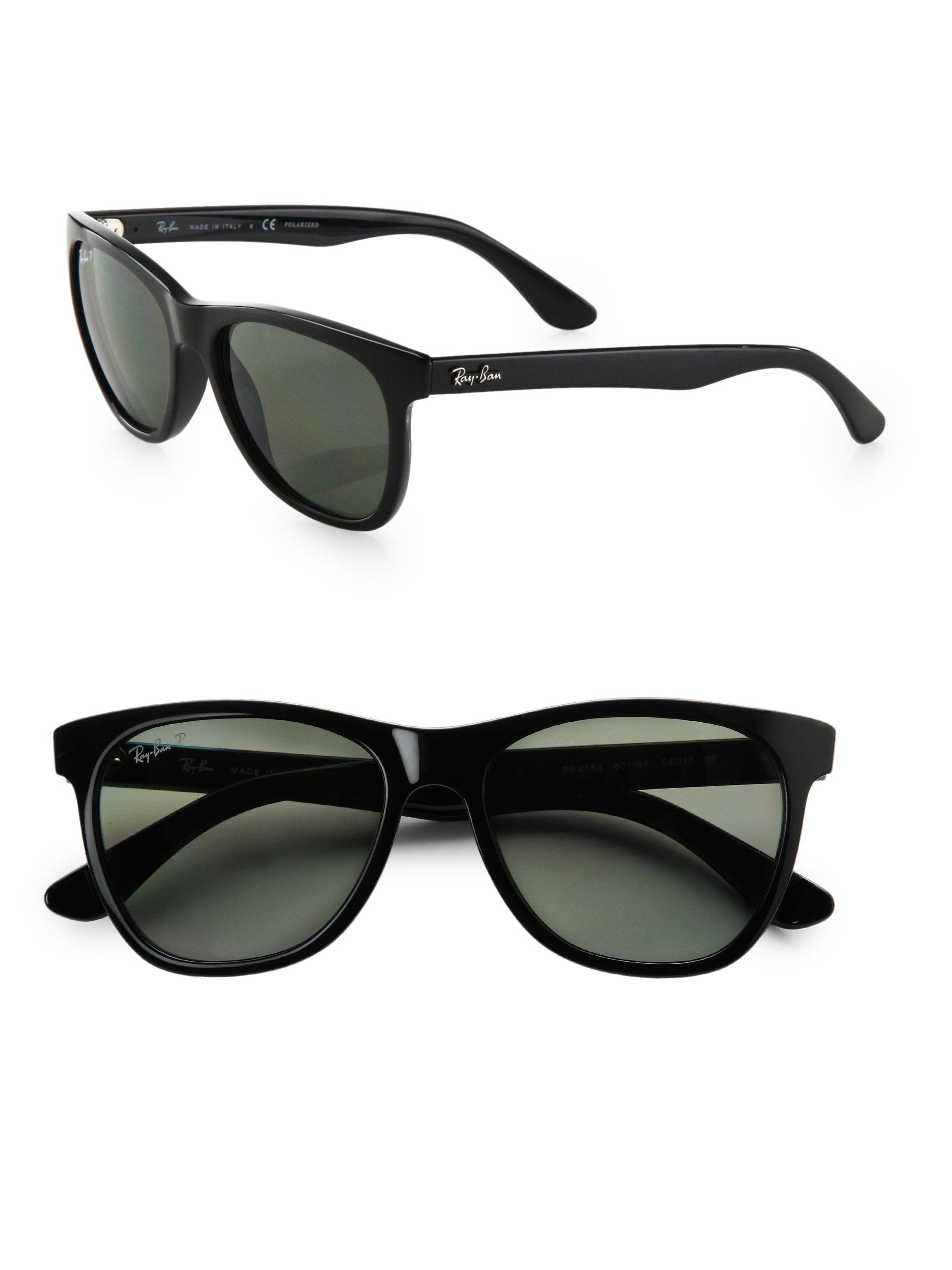 Ray-ban Oversized Plastic Wayfarer Sunglasses in Black | Lyst