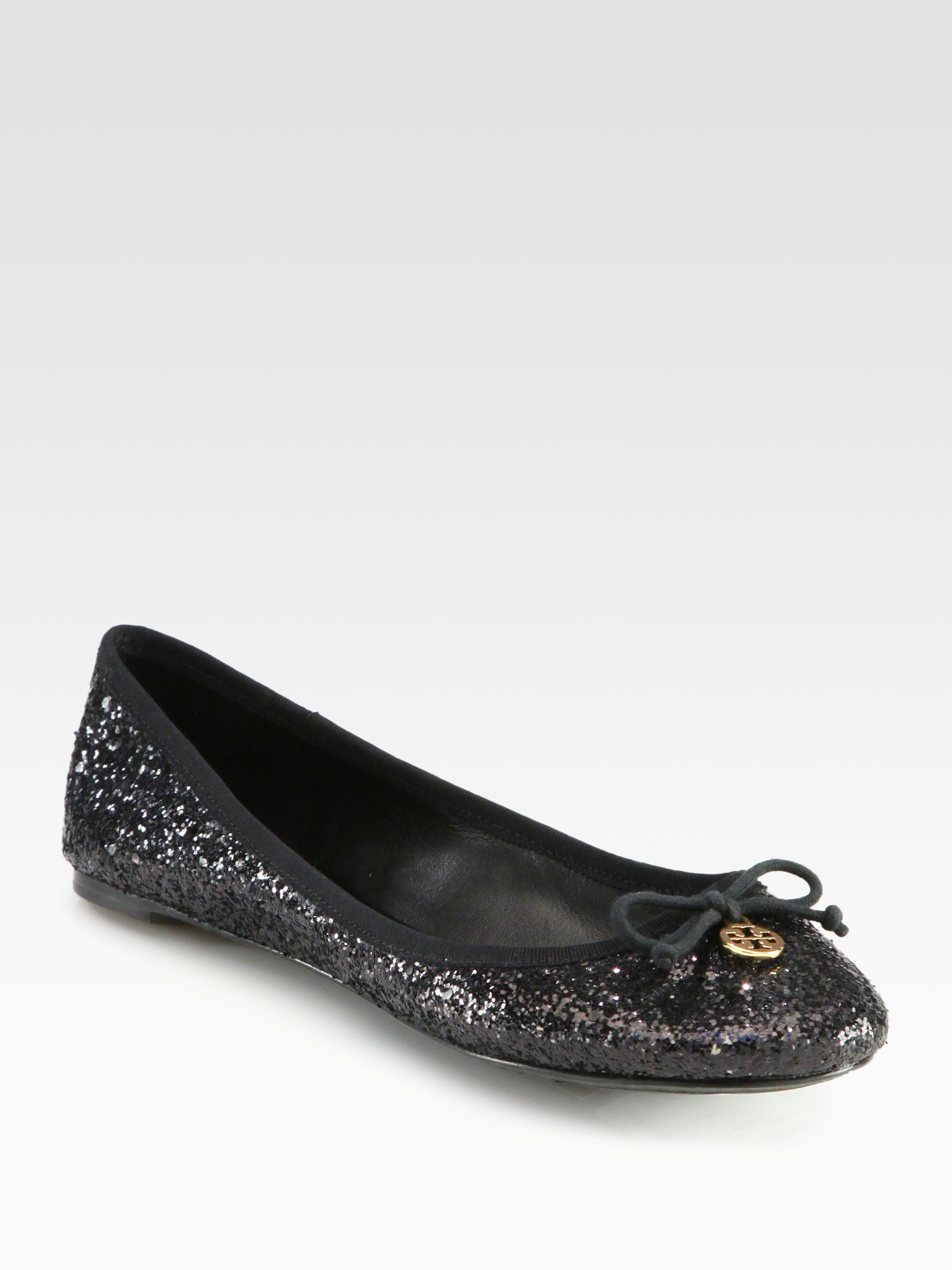 5644c223f6db ... netherlands lyst tory burch chelsea glitter ballet flats in black ff922  2021a