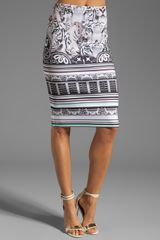 Clover Canyon Eye Of The Tiger Neoprene Skirt in Multi - Lyst
