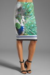 Clover Canyon Peacock Neoprene Skirt in Multi - Lyst