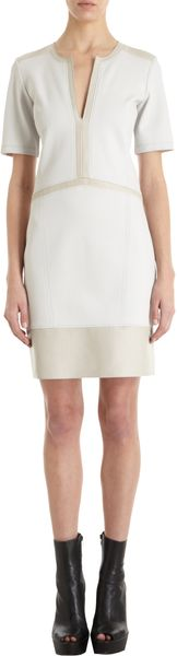 Helmut Lang Slit Neck Dress - Lyst