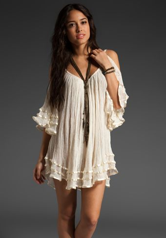 Jen's Pirate Booty Nena Open Shoulder Dress in Natural - Lyst