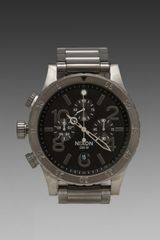 Nixon The 4820 Chrono in All Gunmetal - Lyst