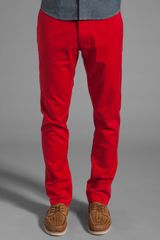 Shades Of Grey By Micah Cohen Slim Fit Chino in Red - Lyst