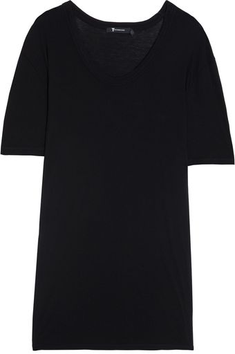 T By Alexander Wang Classic Deep Neck T-Shirt - Lyst