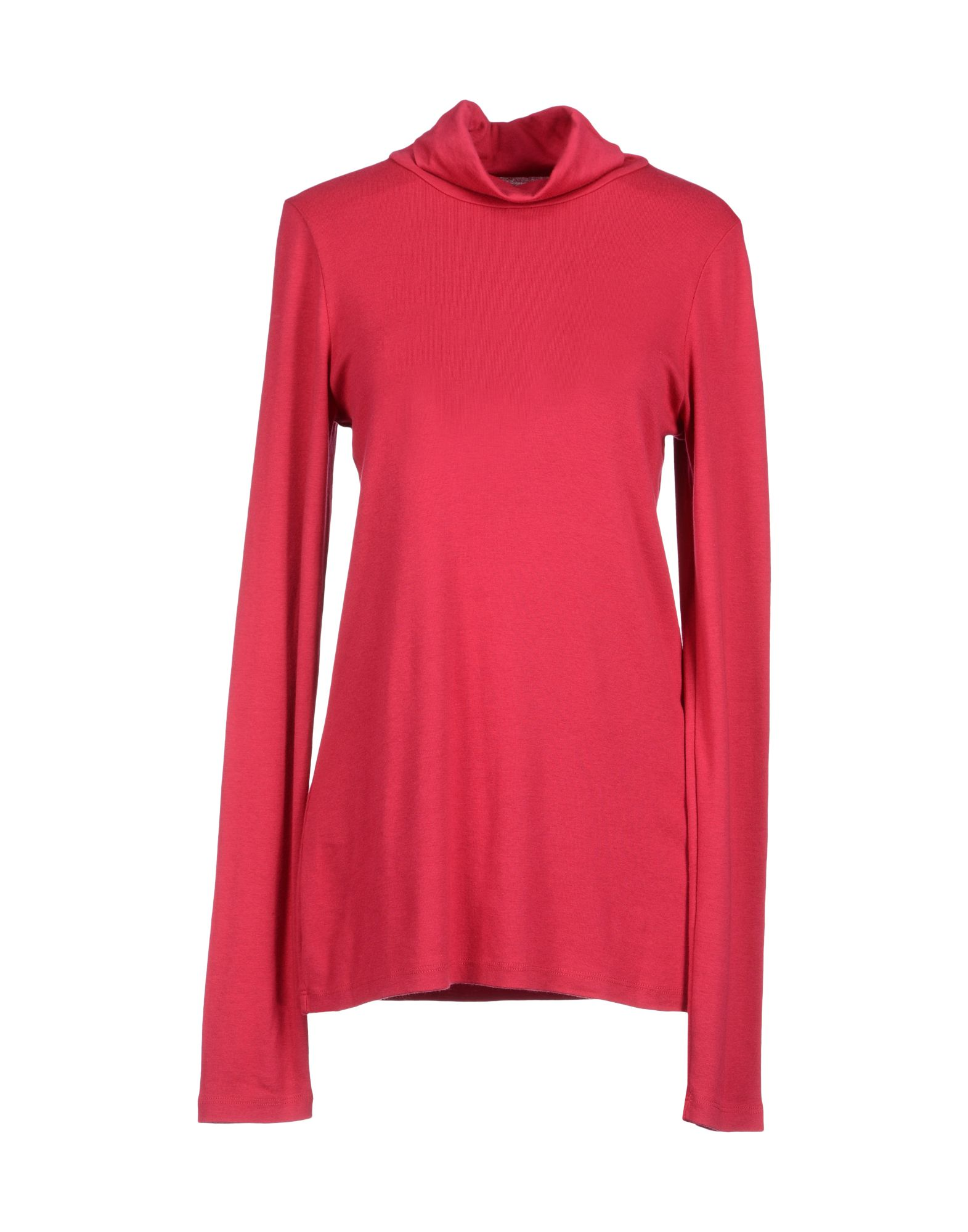 Three Dots Long Sleeve T Shirt In Red Lyst