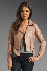 Veda Julian Temptation Leather Jacket in Mauve - Lyst