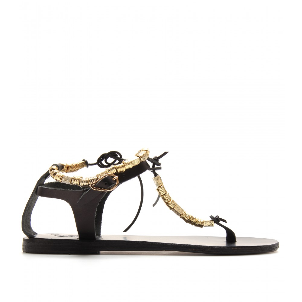Ancient Greek Sandals Chrysso Leather Sandals In Black Lyst