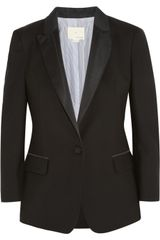 Band Of Outsiders Wool piqué Tuxedo Jacket - Lyst