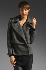 By Malene Birger Febiola Tweed Jacket in Dark Melange - Lyst