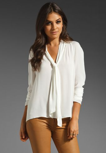 Elizabeth And James Daphne Blouse in Ivory - Lyst