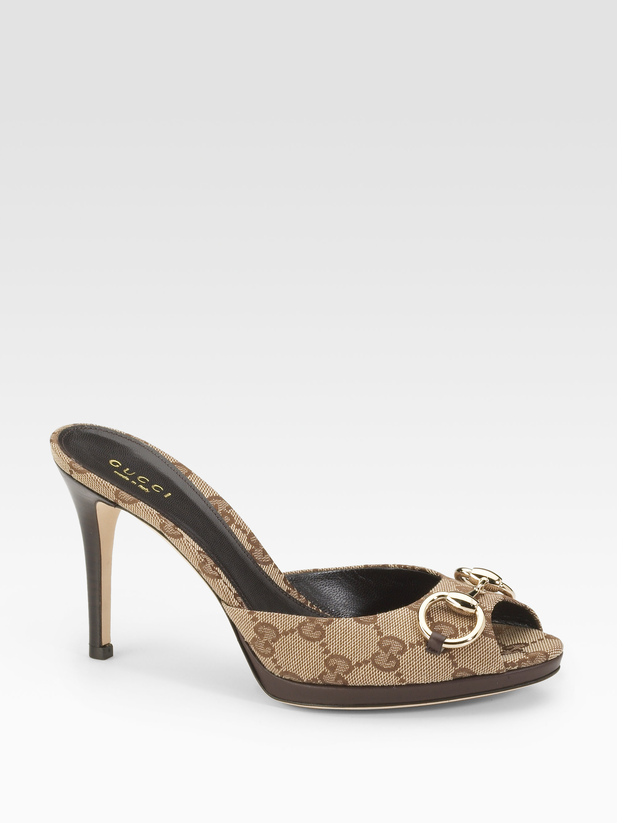 f57f90a3580f Lyst - Gucci New Hollywood Horsebit Mules in Natural