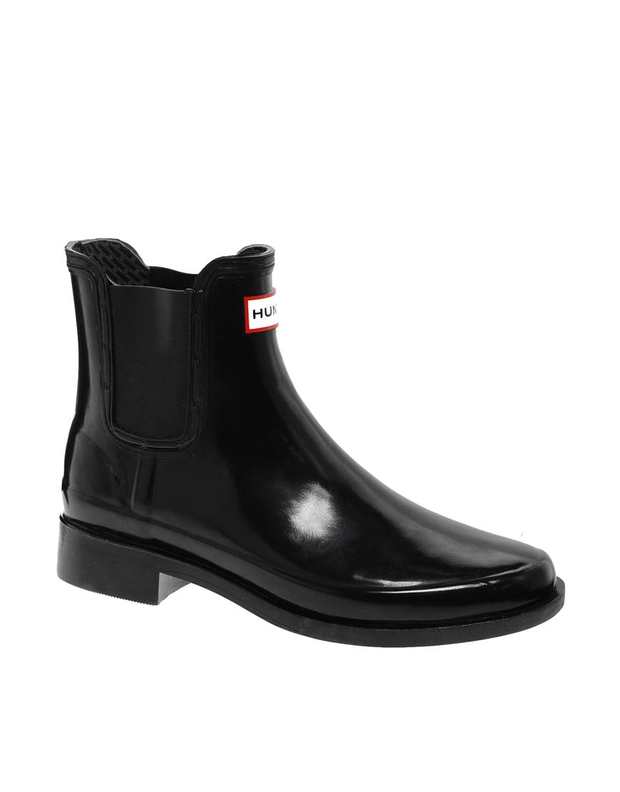 hunter bradwell rubber chelsea boots in black lyst. Black Bedroom Furniture Sets. Home Design Ideas