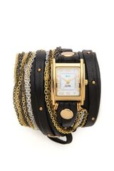 La Mer Collections Venice Stud Wrap Watch - Lyst